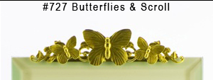 #727 Butterflies & Scroll